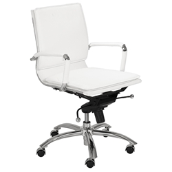 Gunar Pro Low Back Office Chair in White by Euro Style
