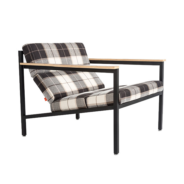 Halifax Contemporary Lounge Chair In Tartan Shadow By Gus Modern