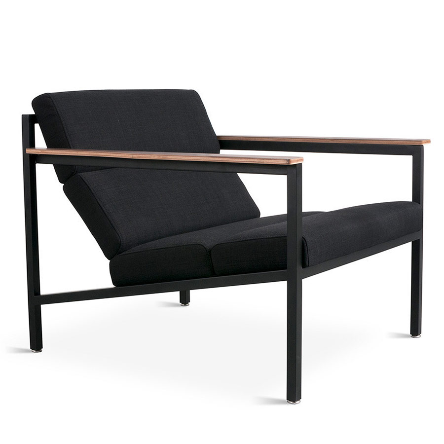 Halifax Contemporary Lounge Chair in Laurentian Onyx by Gus* Modern