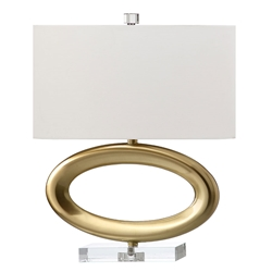 Halsten Brass Contemporary Table Lamp