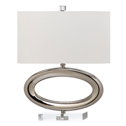Halsten Nickel Contemporary Table Lamp