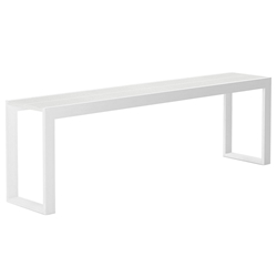 Modloft Hanover 102 in. White Crocco Reclaimed Leather Modern Console Table