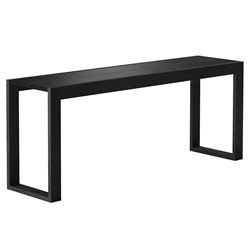 Modloft Hanover 79 in. Black Crocco Reclaimed Leather Modern Console Table