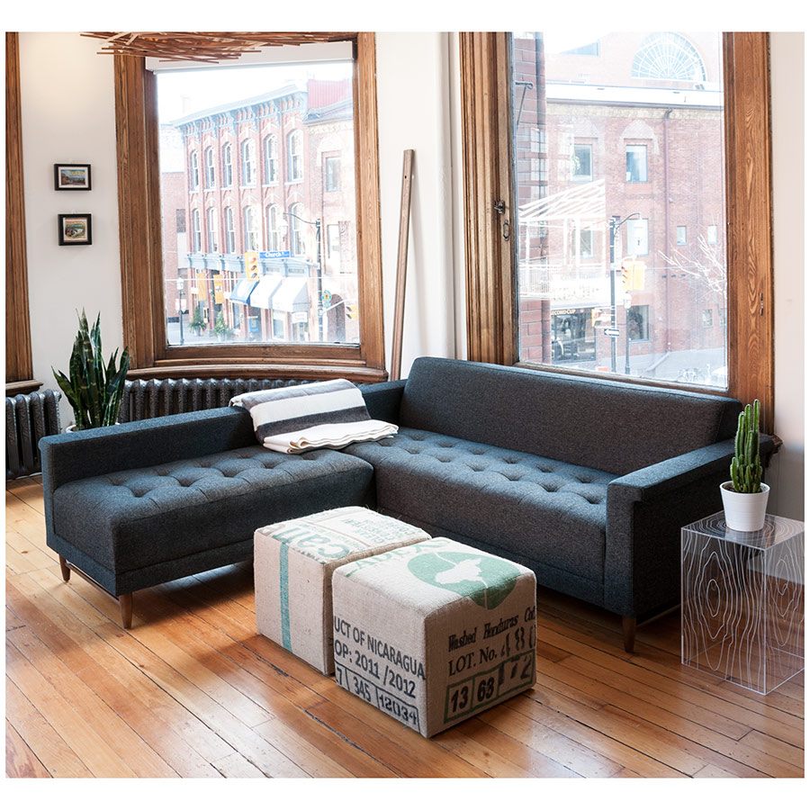 Gus Modern Harbord Loft BiSectional Truffle Eurway