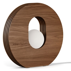 Modloft Harley Walnut Wood Modern Table Lamp