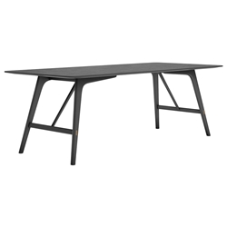 "Modloft Haru 87"" Black Oak Wood Modern Dining Table"