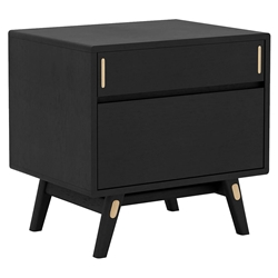 Modloft Haru Modern Nightstand in Black Oak Wood