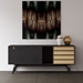 Modloft Haru Black Oak Wood Modern Sideboard - Room Setting, Drawer Fronts Reversed, Front View
