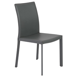 Hasina Modern Gray Leather Dining Chair