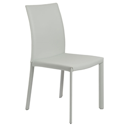 Hasina Modern White Leather Dining Chair