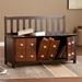 Hedley Contemporary Storage Bench Room Open