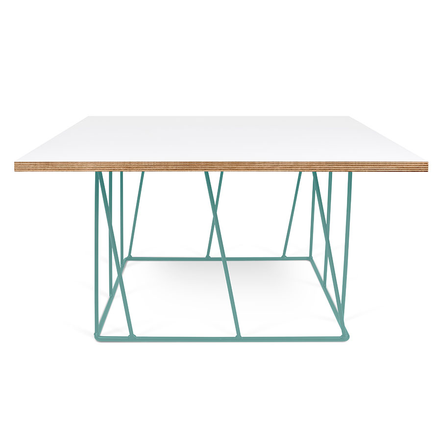 Helix White Green Modern Coffee Table Eurway Furniture