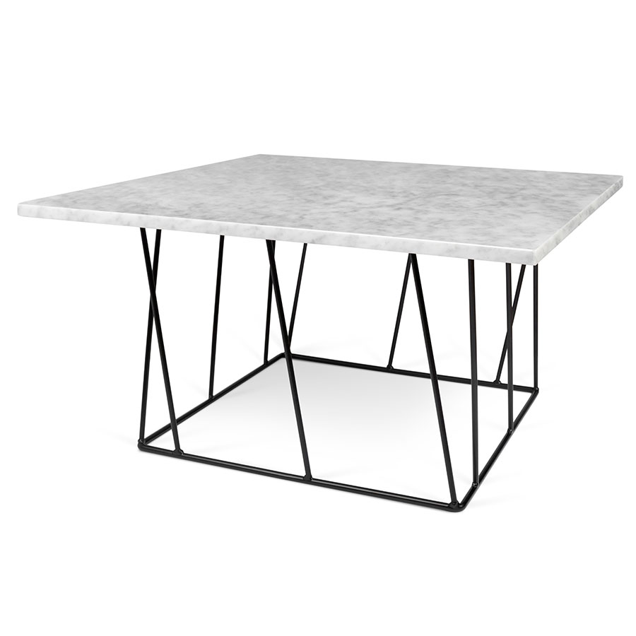 Helix white black modern marble coffee table eurway helix white marble black metal square modern coffee table geotapseo Images