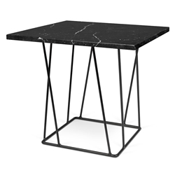 Helix Black Marble Modern End Table
