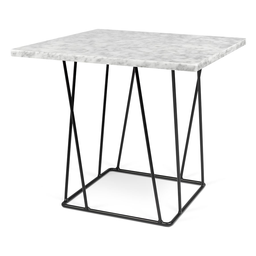 marble top end tables. Helix White Marble Top + Black Metal Base Modern End Table Tables C