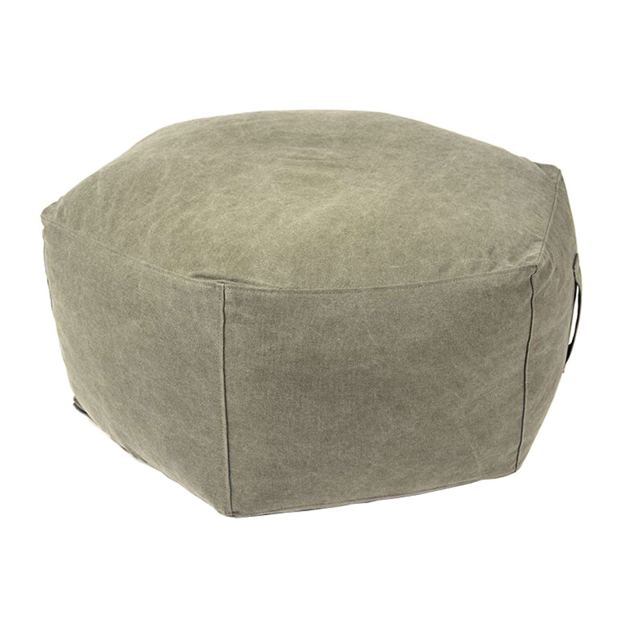 Hex Contemporary Ottoman in Vintage Army by Gus* Modern