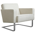High Park Contemporary Lounge Chair in Cabana Husk