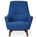 Gus* Modern Hilary Chair in Blue Stockholm Cobalt Fabric Upholstery
