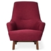 Gus* Modern Hilary Chair in Red Stockholm Merlot Fabric Upholstery