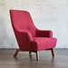Gus* Modern Hilary Chair in Stockholm Merlot Fabric Upholstery With Splayed Angular Solid Walnut Finish Wood Legs - Lifestyle