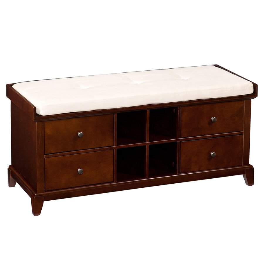 Hubert Contemporary Storage Bench Collectic Home