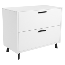 Hugo Modern White Lateral File Cabinet