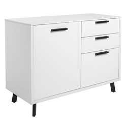 Hugo Modern Storage Unit in White by Euro Style