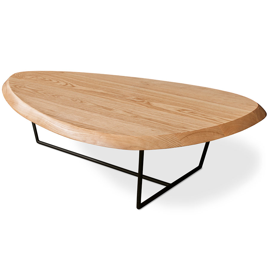 Modern Round Wooden Coffee Table 110: Gus Modern Hull Coffee Table