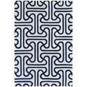 Iconic 3'x5' Rug in Blue and Cream