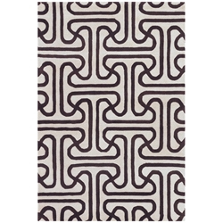 Iconic 5x8 Rug in Brown and Cream