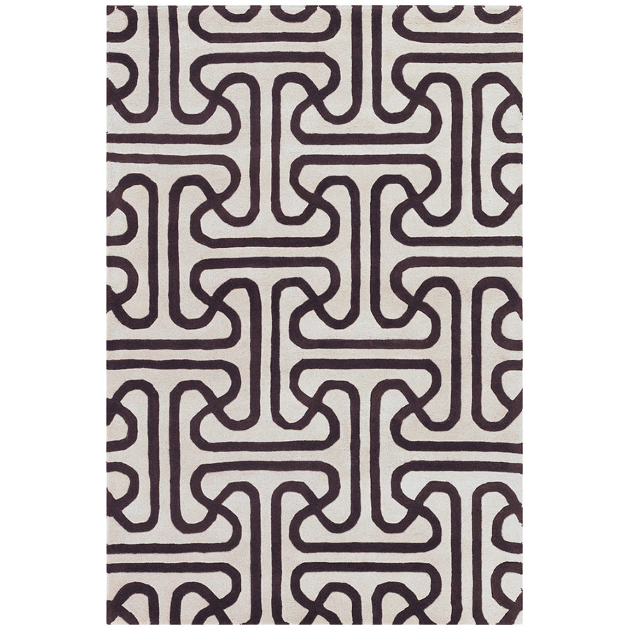 Iconic 5'x8' Rug in Brown and Cream