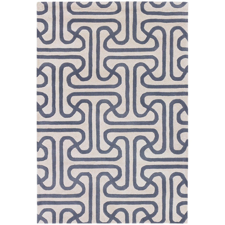 Iconic 5'x8' Rug in Grey and Cream