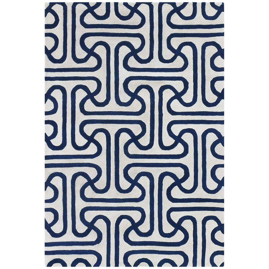 Iconic 8'x10' Rug in Blue and Cream