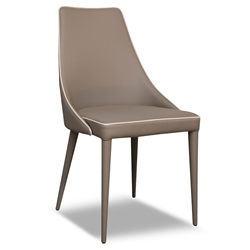 Impero Taupe Modern Dining Side Chair by Pezzan