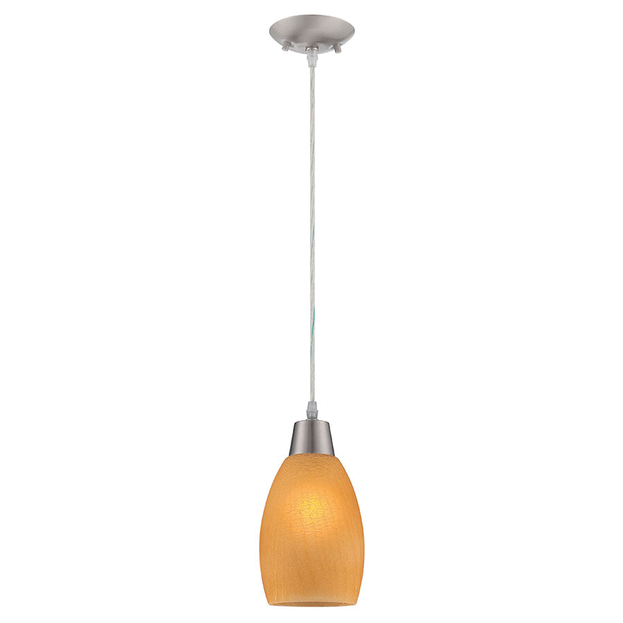 Indra Amber Contemporary Pendant Lamp