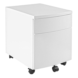 Ingo Modern White Metal Mobile File Cabinet