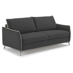 Iris Modern Sleeper Sofa in Dark Grey by Pezzan