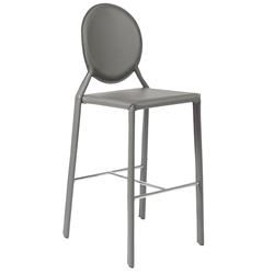 Isabella Modern Gray Bar Stool by Euro Style