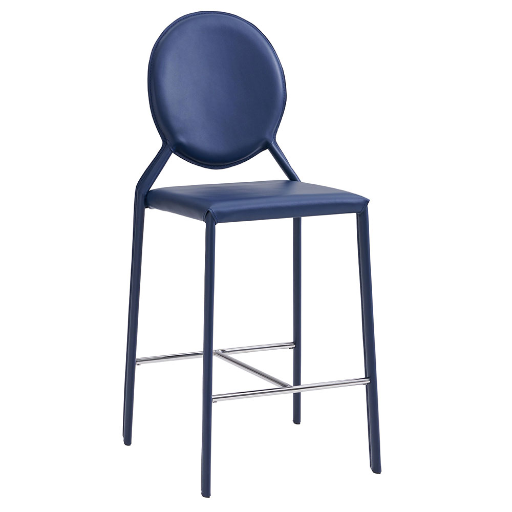 Isabella Modern Blue Counter Stool by Euro Style