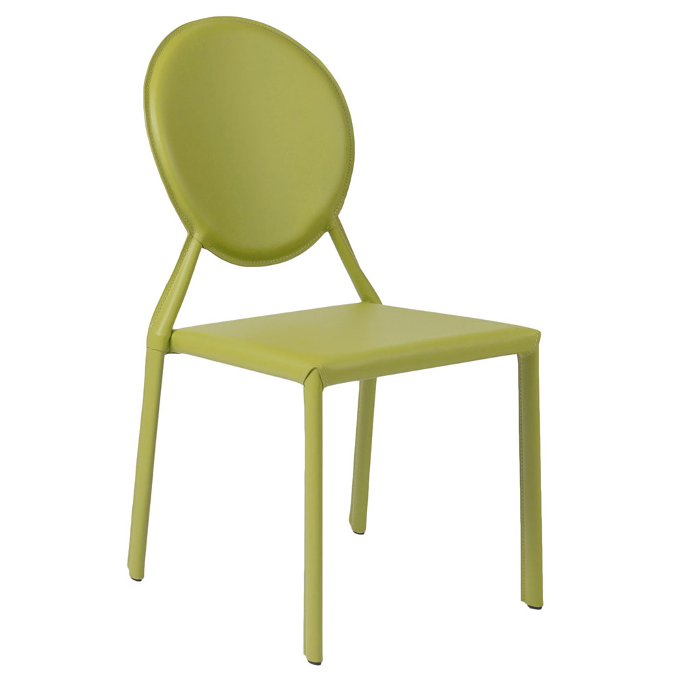 Isabella Modern Green Stacking Chair