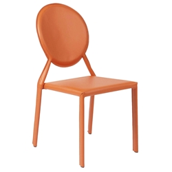 Isabella Modern Orange Stacking Chair