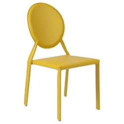 Isabella Modern Yellow Stacking Chair