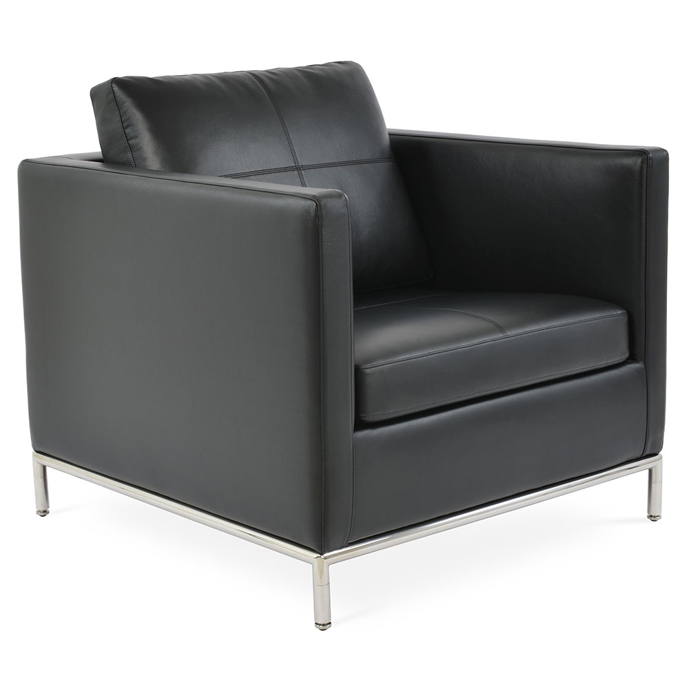 Istanbul Modern Arm Chair in Black PPM