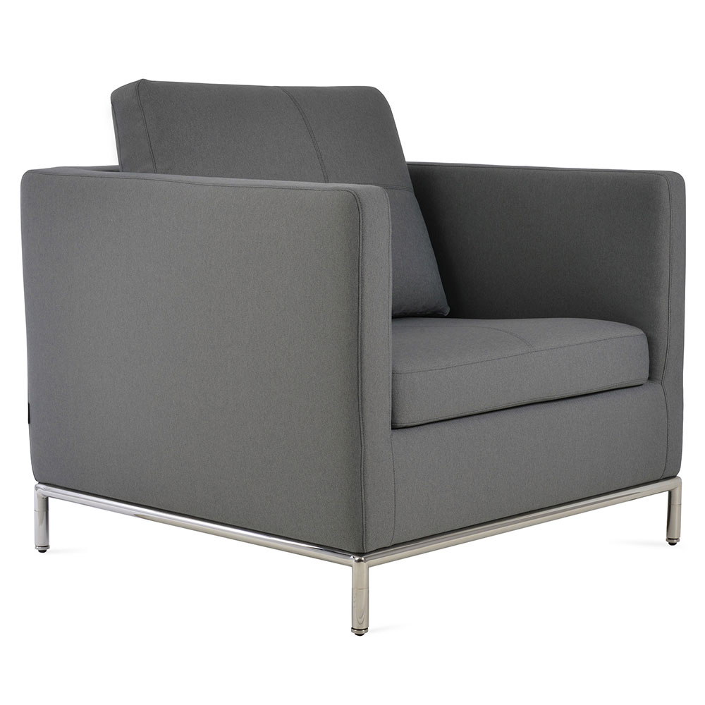 Istanbul Modern Arm Chair in Camira Grey Fabric