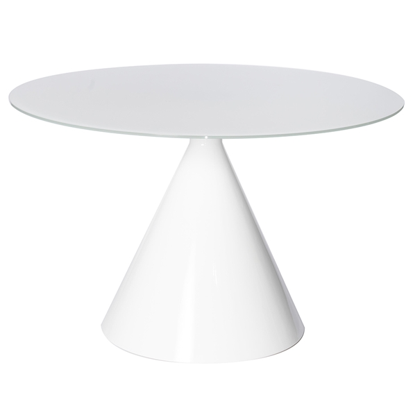 Jade Round White Modern Dining Table