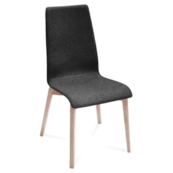 Jake Ash + Charcoal Modern Dining Chair