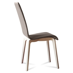 Jake Ash + Taupe Modern Dining Chair