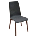 Jake Walnut + Charcoal Modern Dining Chair