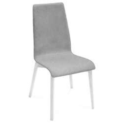 Jake White + Gray Modern Dining Chair