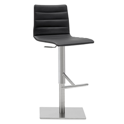 Jamie Black Adjustable Modern Stool